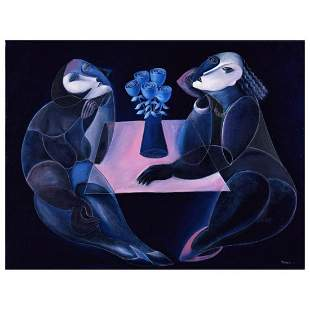 """Yuroz, """"Table Of Negotiation"""" Hand Signed Limited"""