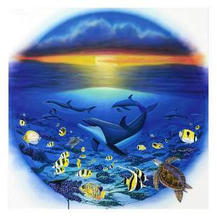 """""""Sea of Life"""" Limited Edition Giclee on Canvas by"""