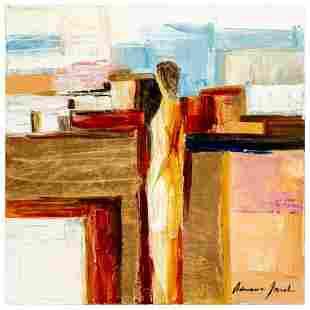 "Adriana Naveh, ""Expectation"" Original Acrylic Painting"