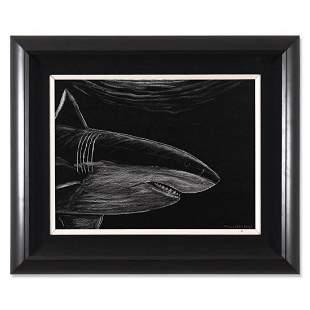 "Wyland, ""Great White Night"" Framed Original Oil"