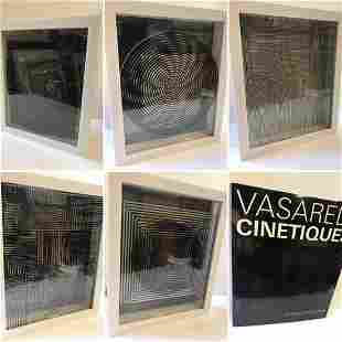 Victor Vasarely- 3D Wall Sculpture/object - Set of 5