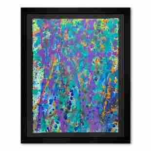"Wyland, ""Coral Colors 49"" Framed Original Watercolor"