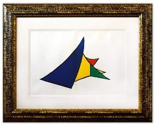 "Alexander Calder- Lithograph ""DLM141 - Chasse neige"""