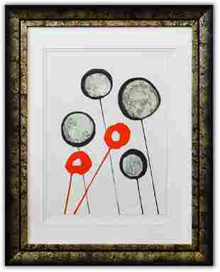 """Alexander Calder- Lithograph """"DLM156 - Ballons"""""""
