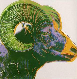 "Andy Warhol- Screenprint in colors ""Bighorn Ram"""