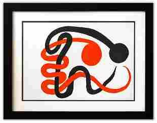 "Alexander Calder- Lithograph ""DLM201 - Deux serpents"""