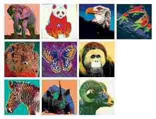 Andy Warhol- Screenprint in colors (Set of 10)