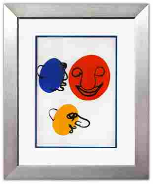 """Alexander Calder- Lithograph """"DLM221 - Visages"""""""