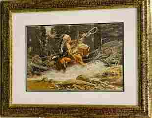 Frank McCarthy Original Lithograph on paper