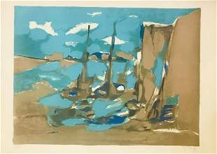 Marcel Mouly Hand Signed and Numbered Lithograph on