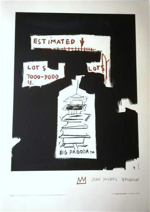 "Jean-Michel Basquiat Original lithograph PAPER ""BIG"