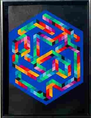 Victor vasarely Serigraph on paper