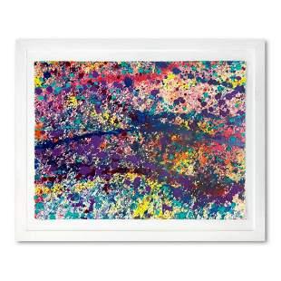 "Wyland, ""Coral Colors 90"" Framed Original Watercolor"