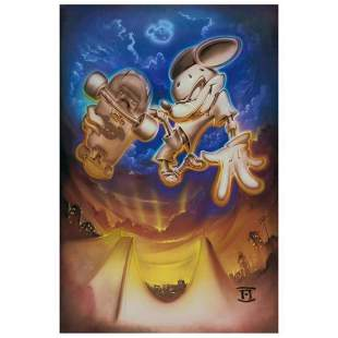 """Noah, """"Grind Mouse"""" Limited Edition Giclee on Canvas,"""