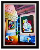 """Ferjo- Original Oil on Canvas """"Picasso's Room of"""