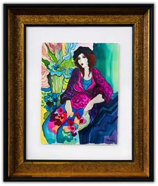 "Patricia Govezensky- Original Watercolor ""Marcia"""