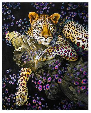 "Vera V. Goncharenko- Original Oil on Canvas ""Hiding on"