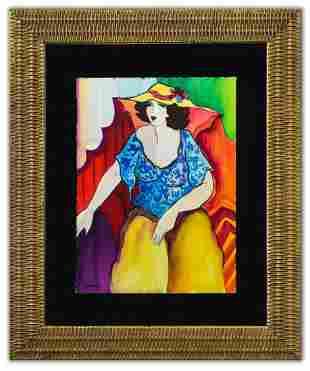 "Patricia Govezensky- Original Watercolor ""Dulce"""