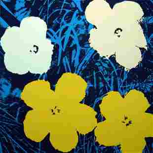 """Andy Warhol """"Flowers 11.72"""" Silk Screen Print from"""