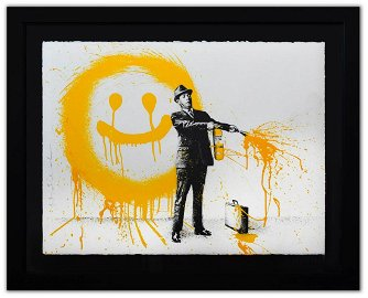 "Mr. Brainwash- Silkscreen Serigraph ""Spray Happiness"
