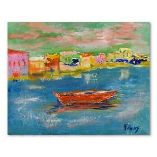 "Elliot Fallas, ""Harbor Vista"" Original Oil Painting on"