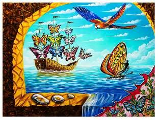 "Eugene Poliarush- Original Oil on Canvas ""The Caribbean"