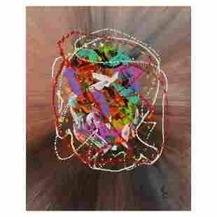 "George Marlowe, ""Fiesta"" Hand Signed Original Acrylic"
