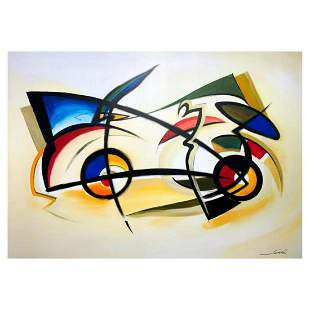 """Alfred Gockel, """"Space Car"""" Hand Signed Limited Edition"""
