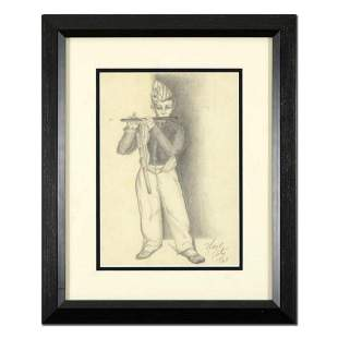 Neal Doty (1941-2016), Framed Original Drawing, Dated