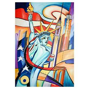 """Alfred Gockel, """"Flame of NY"""" Hand Signed Limited"""