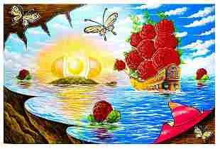 "Eugene Poliarush- Original Oil on Canvas ""Sunny Day in"