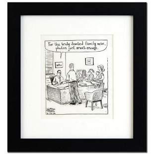 """Bizarro - """"Family Man"""" is a Framed Original Pen & Ink"""