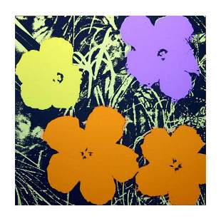 """Andy Warhol """"Flowers 11.67"""" Silk Screen Print from"""
