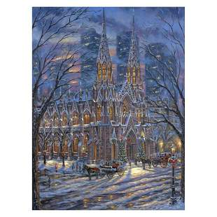 """Robert Finale, """"St Patricks Cathedral"""" Hand Signed,"""