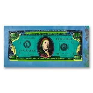 "Steve Kaufman (1960-2010) ""100 Dollar Old Ben Bill"""