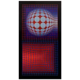 """Victor Vasarely (1908-1997), """"VP Host"""" Heliogravure"""