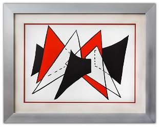 "Alexander Calder- Lithograph ""DLM141 - Triangles"