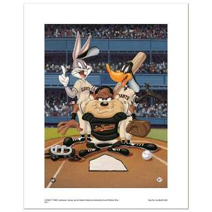 """""""At the Plate (Giants)"""" Numbered Limited Edition Giclee"""