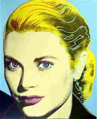 "Andy Warhol- Screenprint in colors ""GRACE KELLY"""