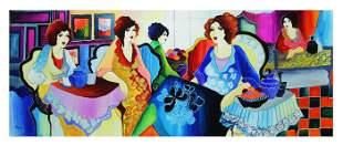 "Patricia Govezensky- Original Watercolor ""Girls Power"""