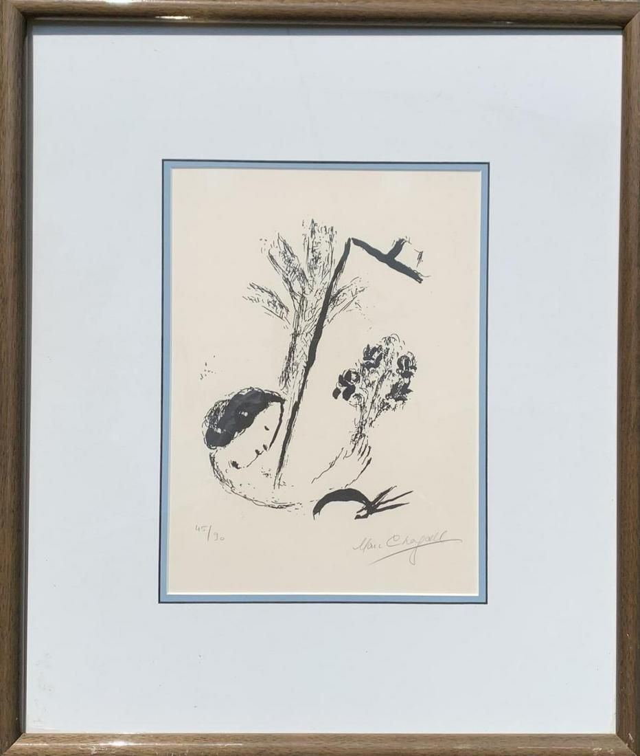 """Marc Chagall Original Lithograph """"Bouquet with Hand"""""""