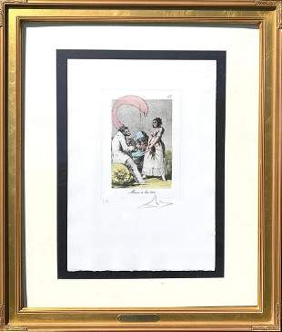 Salvador Dali Original heliogravure with drypoint and