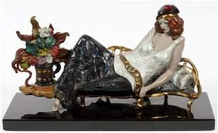 "Itzchak Tarkay Original cast bronze sculpture ""La"