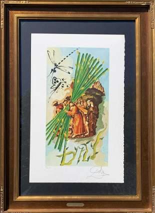 "Salvador Dali Original Stone lithograph ""Lyle Stuart"