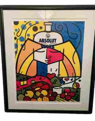 Romero Britto Limited Edition silkscreen paper