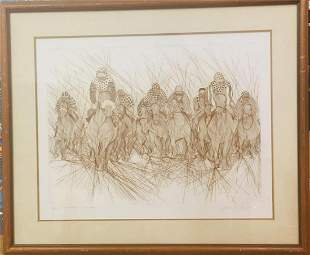 """Guillaume Azoulay """"Last Furlong"""" Vintage hand signed"""