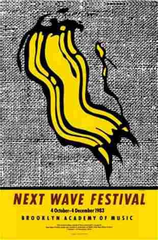 """Roy Lichtenstein Offset lithograph on paper """"New Wave"""