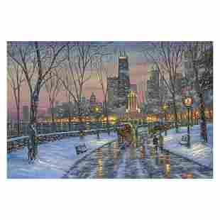 "Robert Finale, ""Chicago Skyline"" Hand Signed, Artist"