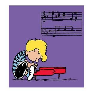 "Peanuts, ""Schroeder"" Hand Numbered Canvas (40""x44"")"