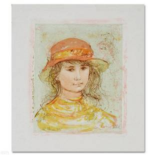 """""""Pamela"""" Limited Edition Lithograph by Edna Hibel"""